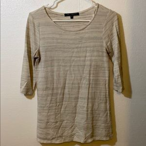 ONE CLOTHING White Space Dye Knit Top